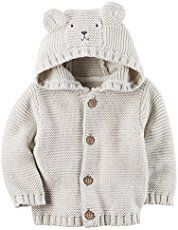 Photo of Olive You Baby Cardigan Free Knitting Pattern