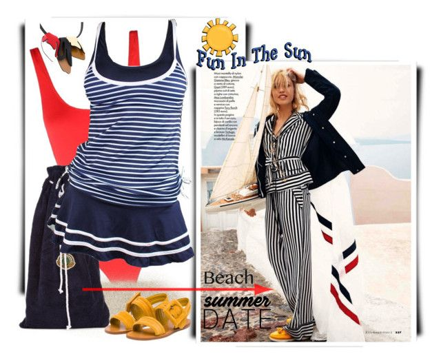 """Summer Date: The Beach"" by betiboop8 ❤ liked on Polyvore featuring Solid & Striped, Robinson Les Bains, Marni, Miu Miu, beach and summerdate"