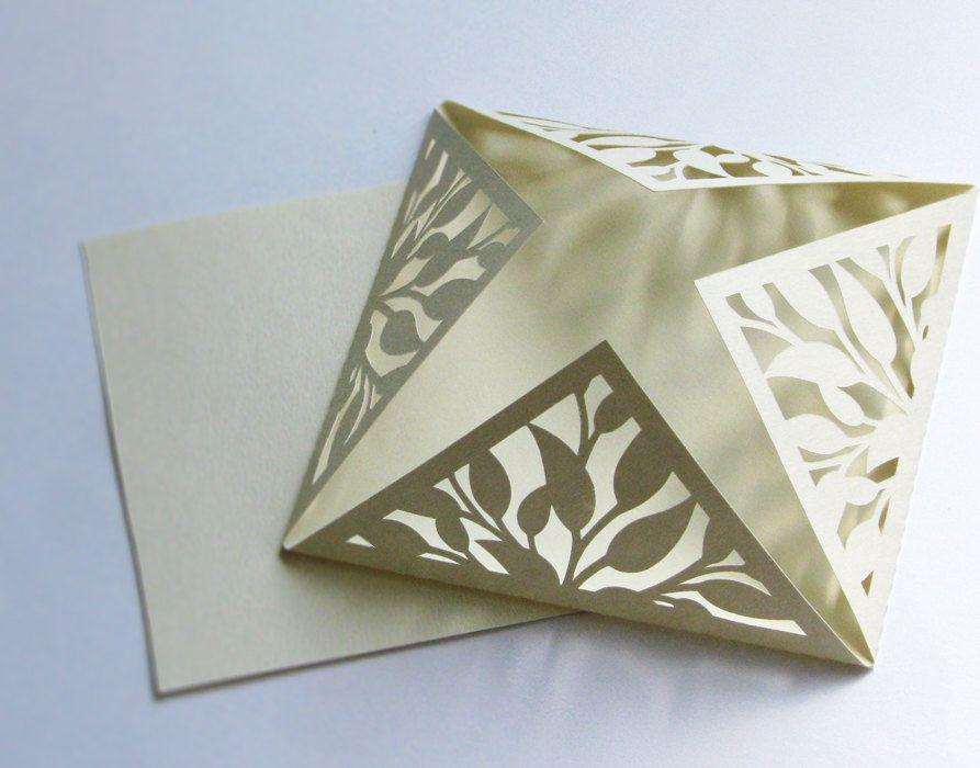 wedding invitation elegant cream die cut card with blank printable