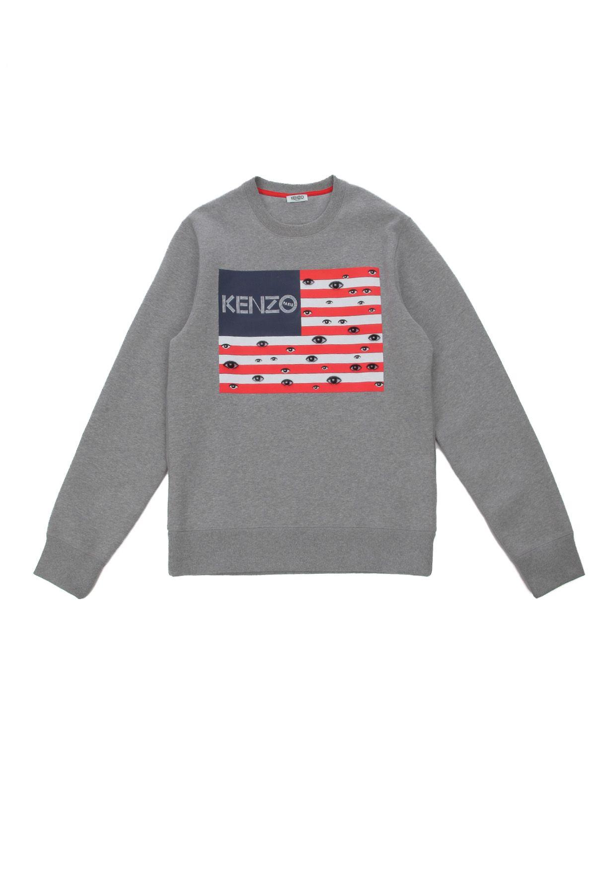 Kenzo x Toilet Paper Eye Flag Sweatshirt | red, white & blue