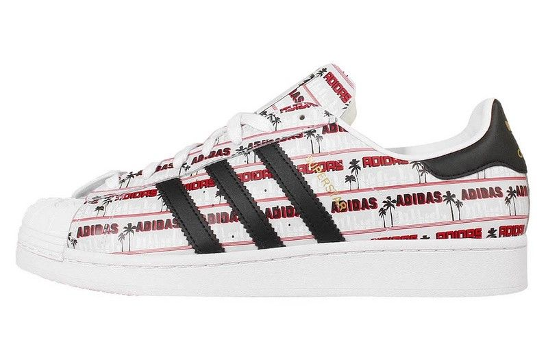 sports shoes 73372 ef761 2016 rojo Negro Adidas Originals Superstar NIGO Bearfoot Clásico hombres  Zapatos…
