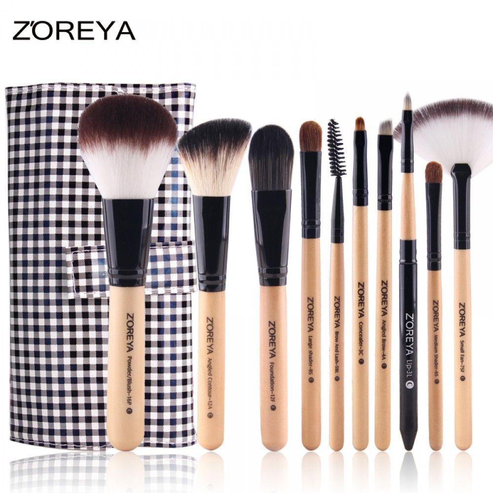 Zoreya 10 Pieces Makeup Brush Set Professional