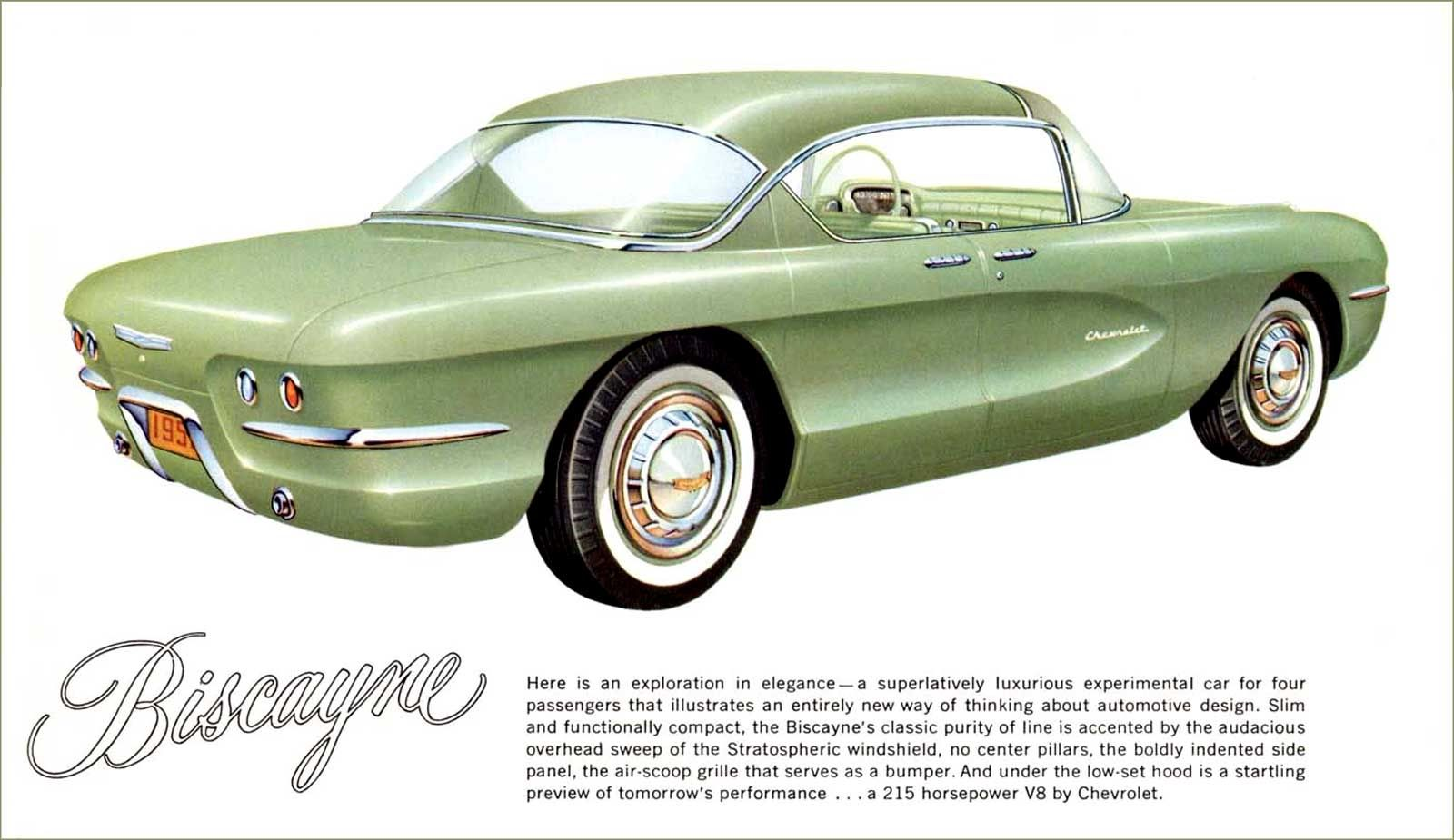 1955 Motorama - The Chevrolet Biscayne experimental four passenger model (rear view).
