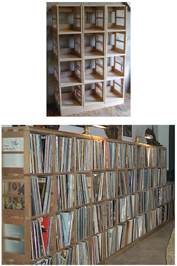 Record/vinyl Storage Case Made Of Affordable Wood Modules That Lock  Together And Hold 50