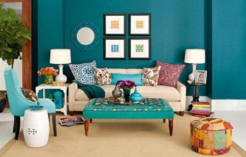 sch ne farbpalette zu hause ges ttigte farben wohnzimmer. Black Bedroom Furniture Sets. Home Design Ideas