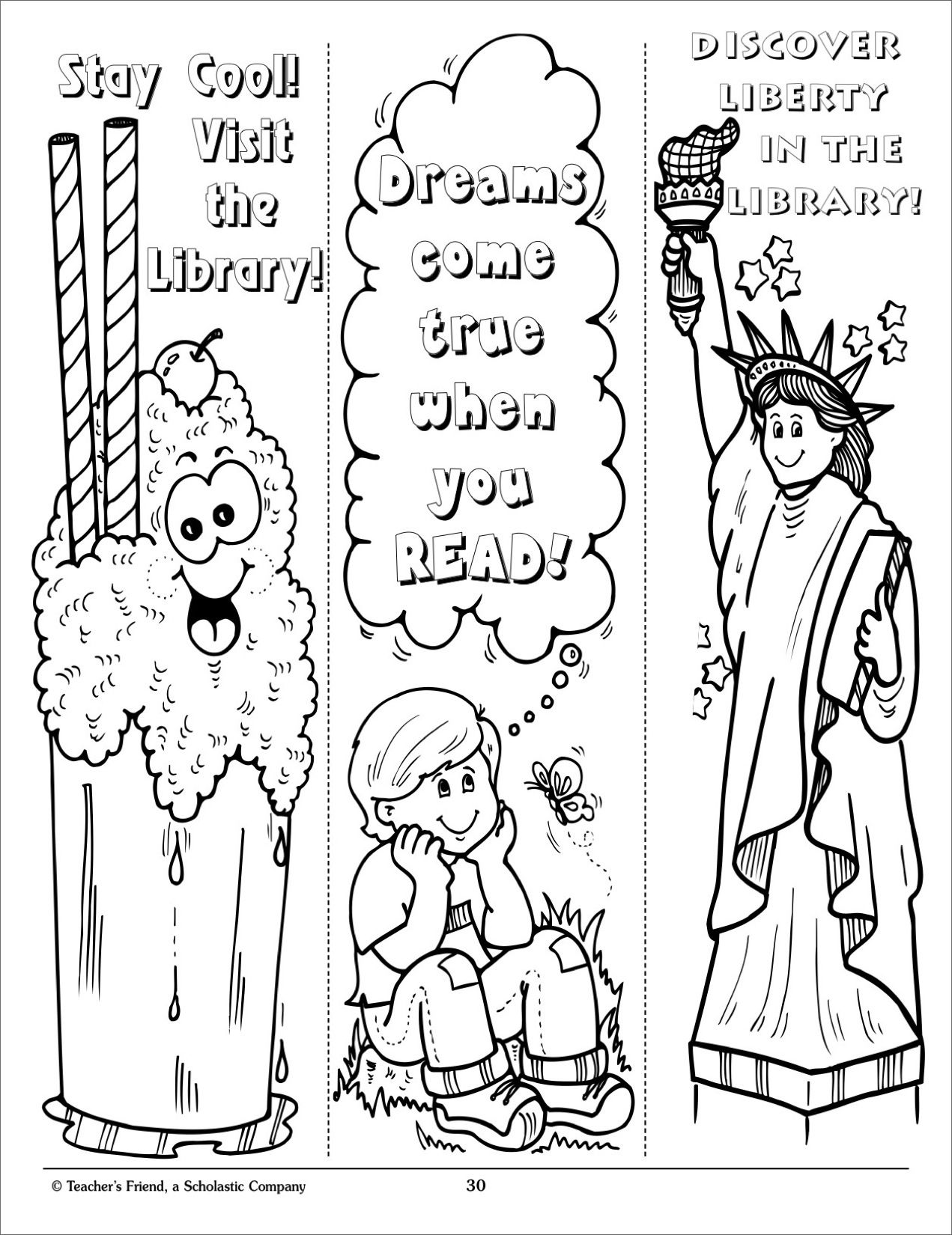 Bookmarks Coloring Pages Miakenas