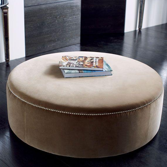 Costellini Velvet Ottoman Large Large Round Ottoman Round