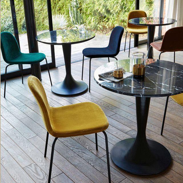 Chaise Velours Tibby Table Marbre Table Bistrot Marbre Plateau De Table