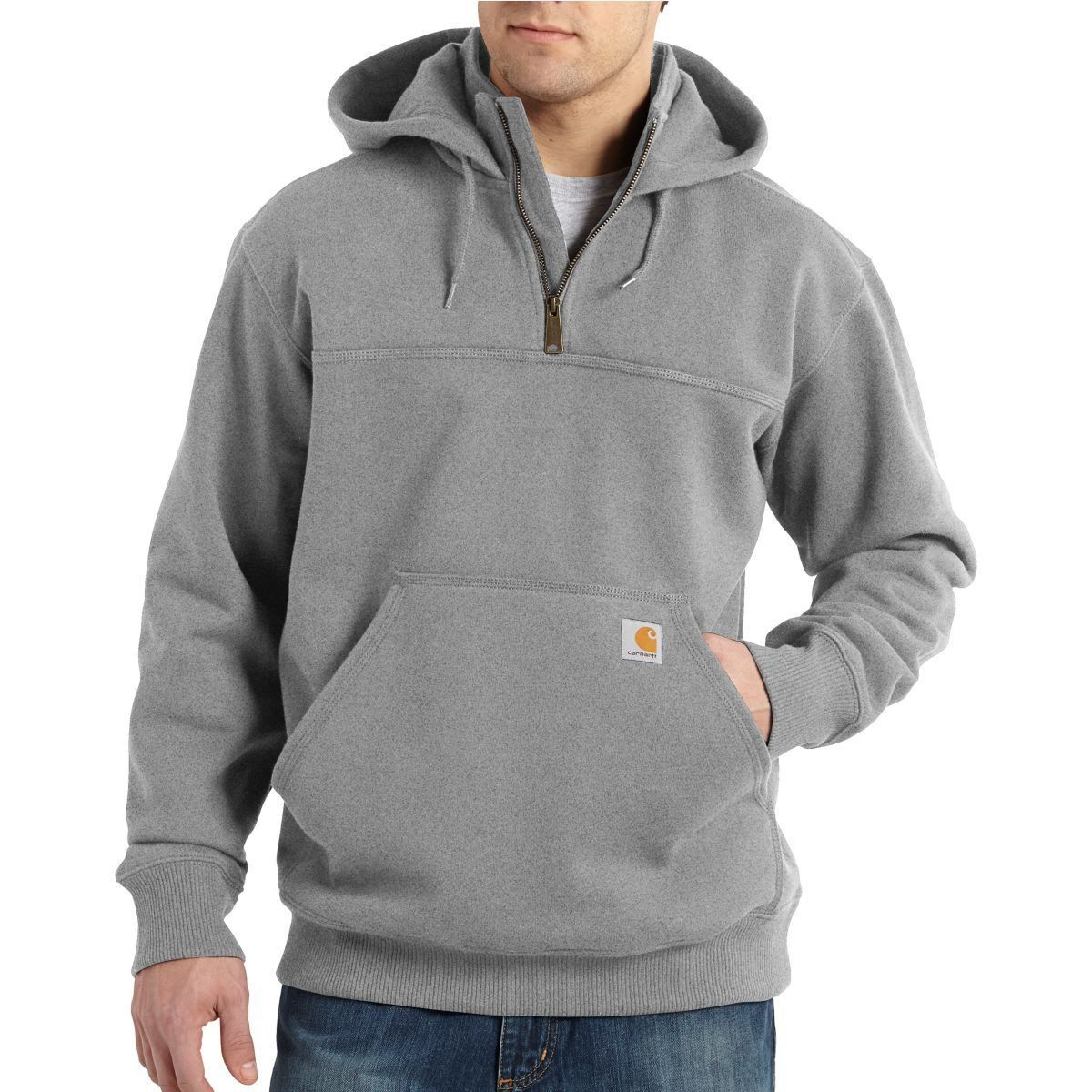 Carhartt Men's Heavyweight Hooded Rain Heather Defender Paxton Gray qpw4qv
