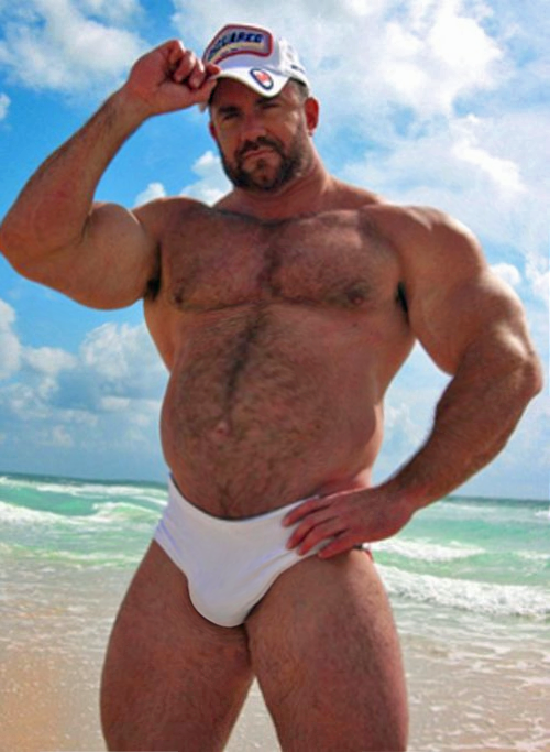 hairy muscle bear