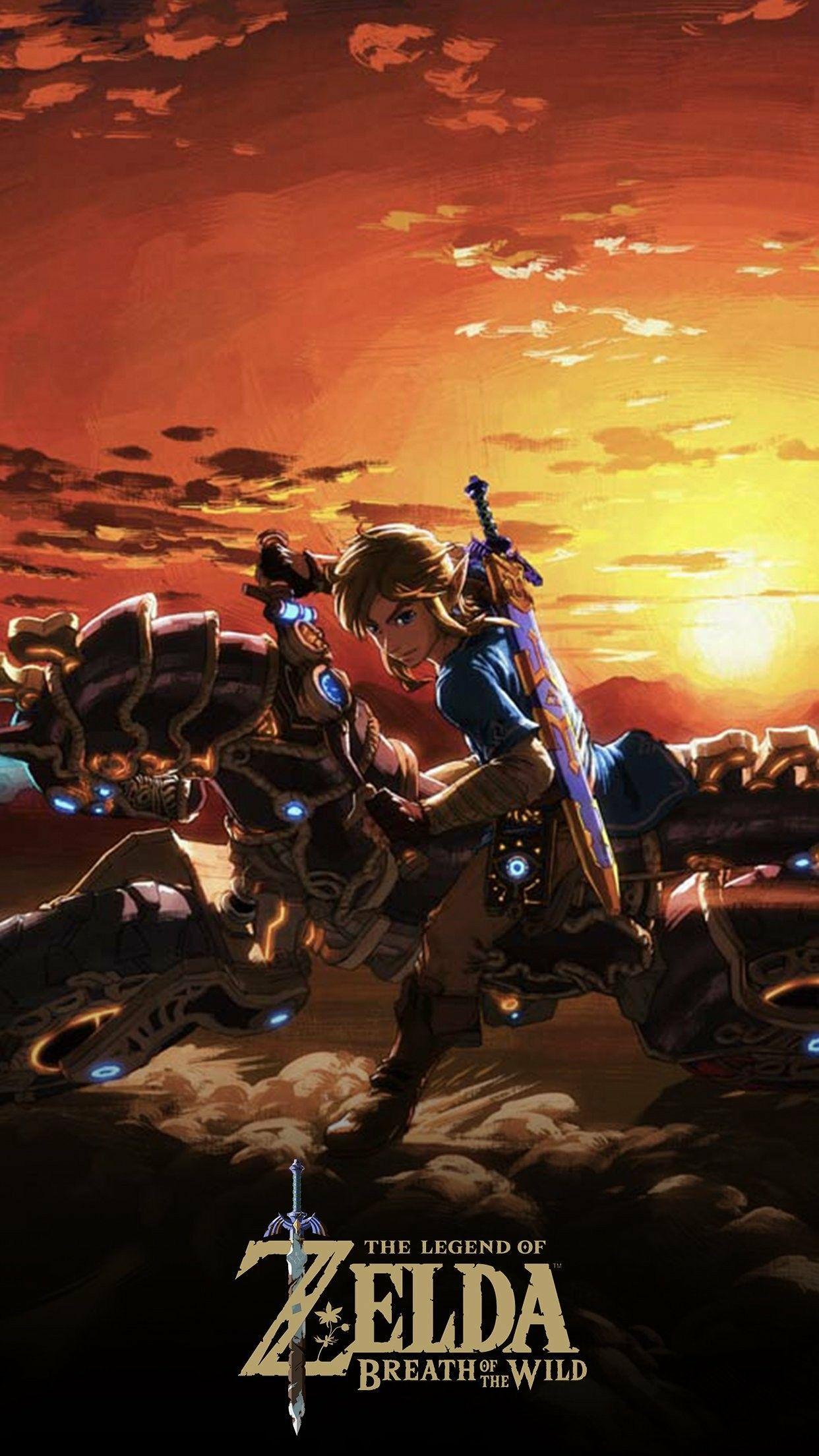 Legend of Zelda breath of the wild mobile wallpaper from