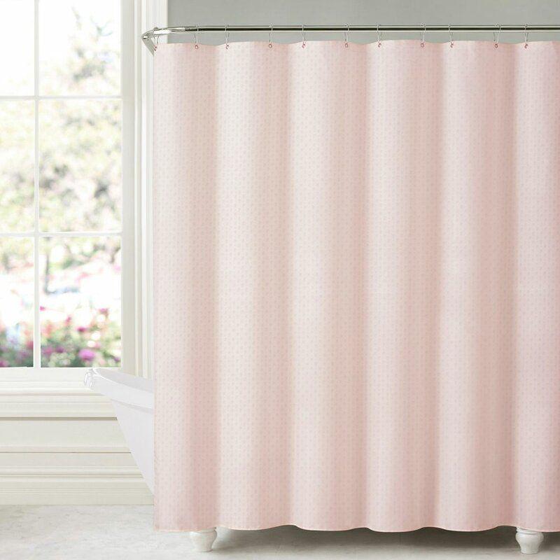 House Of Hampton Aarush Honeycomb Embossed Single Shower Curtain