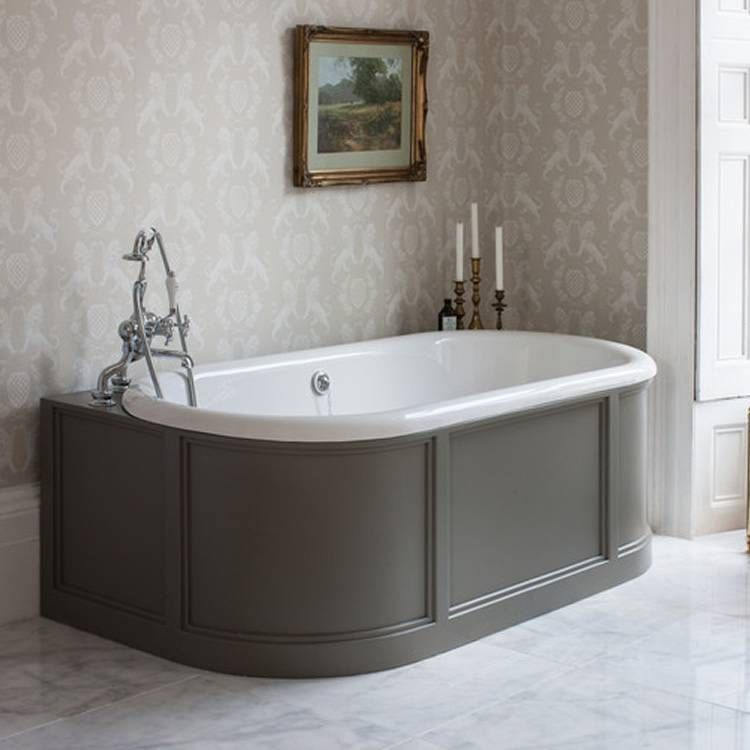 Small Back To Wall Bath Part - 21: Burlington London Back To Wall Bath With Curved Surround