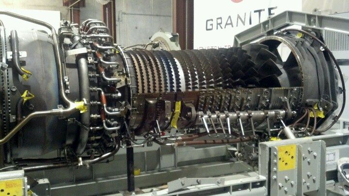 GE LM2500 during top-case remo...