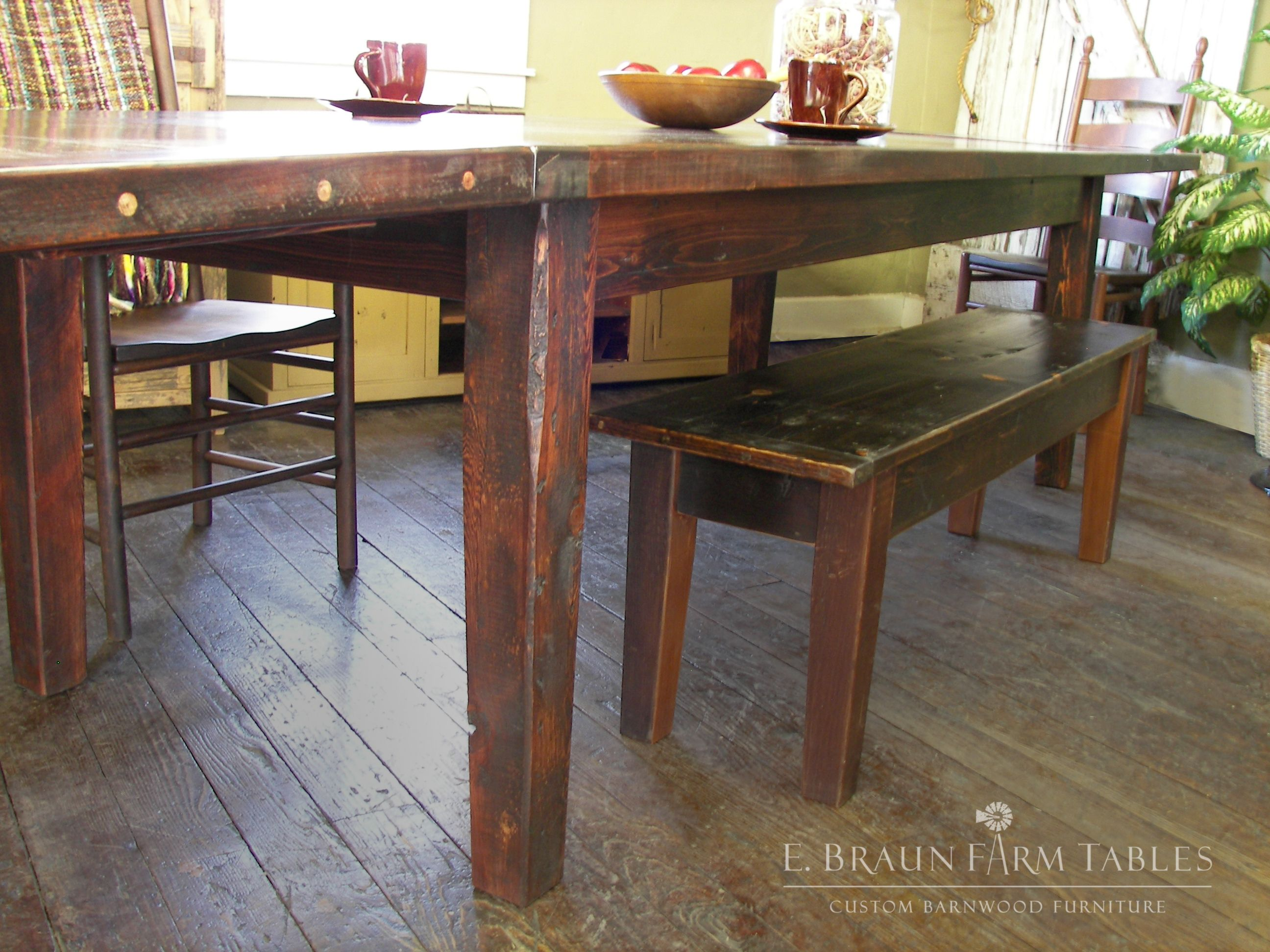 Here Is An Example Of A 12 Foot Table It Is Actually A 9 Foot Table With Two 24 Company Boards E Reclaimed Barn Wood Barnwood Furniture Rustic Dining Room