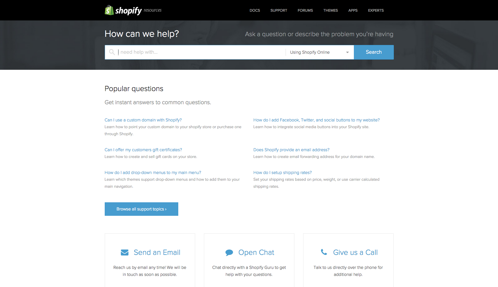 Contact Shopify Support Supportive, This or that
