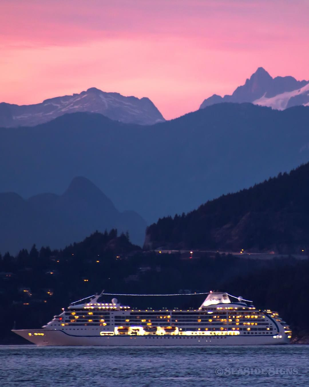 Vancouver Harbour: Tantalizing Trip A Cruise Ship Passes Point Atkinson And