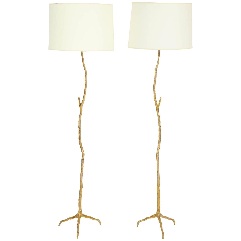 Pair of bronze maison arlus twig floor lamps floor lamp and chinoiserie pair of bronze maison arlus twig floor lamps arubaitofo Choice Image