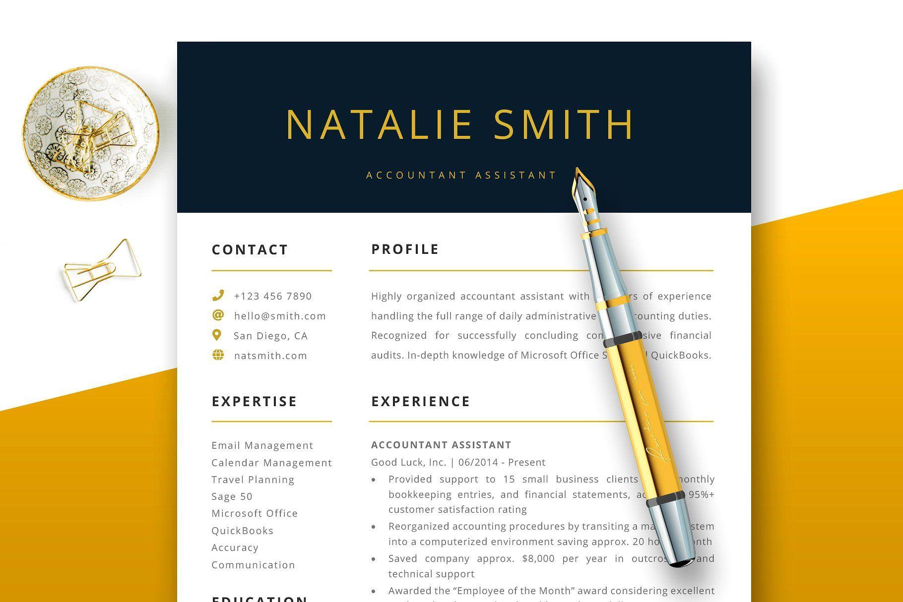 Accountant assistant resume cv pointstrickstips