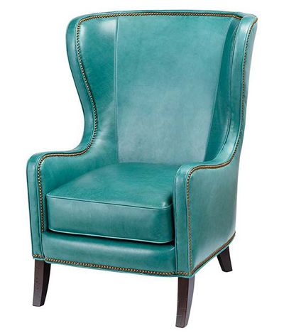 Superieur Turquoise Dempsey Chair  Gorgeous!