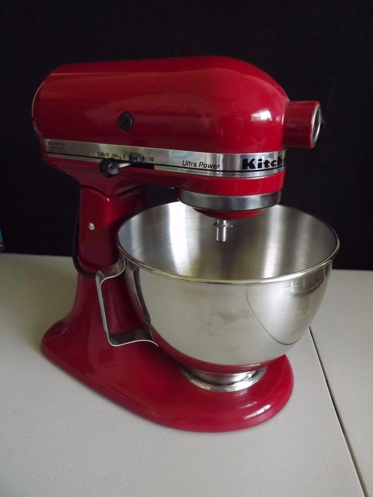 Kitchenaid red 300 watts ultra power stand mixer45 bowl