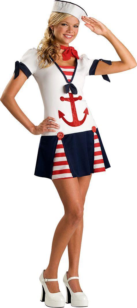 Teen Girls Sassy Sailor Costume - Top Costumes - Teen Costumes - Halloween Costumes - Categories - Party City  sc 1 st  Pinterest & Teen Girls Sassy Sailor Costume - Top Costumes - Teen Costumes ...