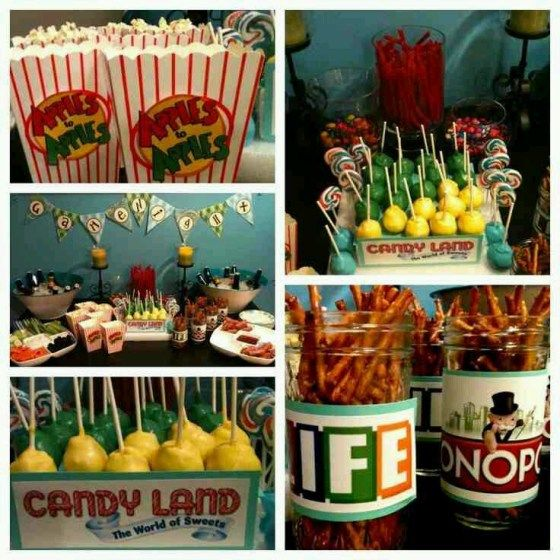 Decor/Food - game night party