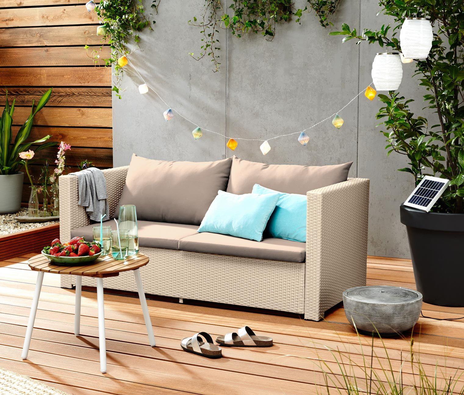 199 00 Gartenmobel Aus Witterungsbestandigem Kunststoffgeflecht Mit Diesem Gemutlichen Polyrattan Sofa Verwandelt Man Seine Sofa Furniture Outdoor Furniture