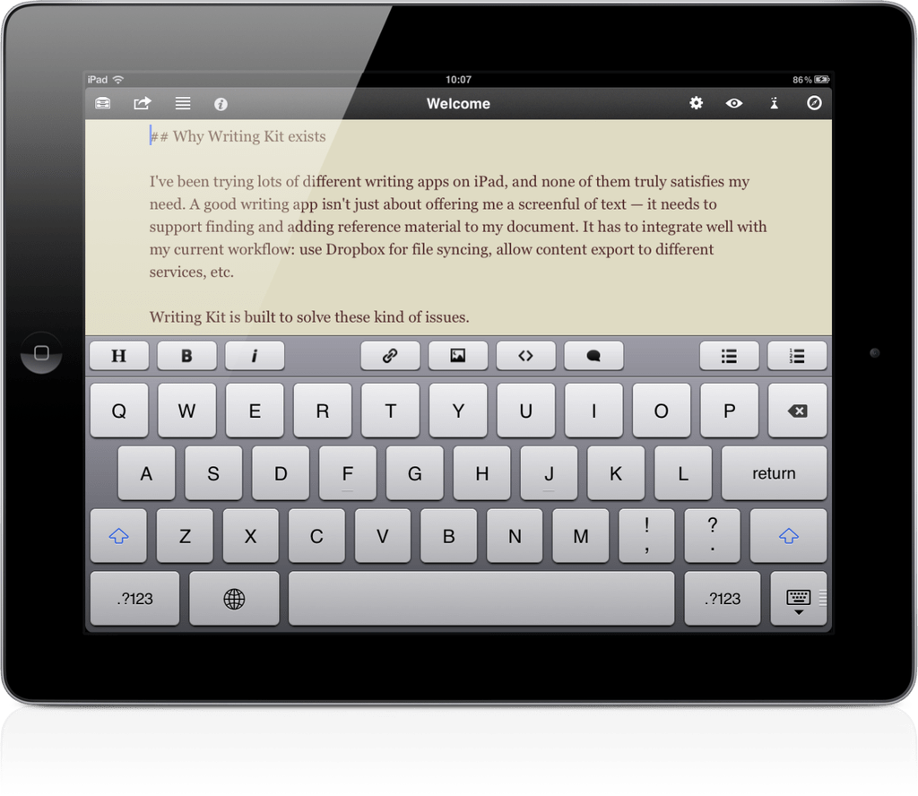 best novel writing app for ipad