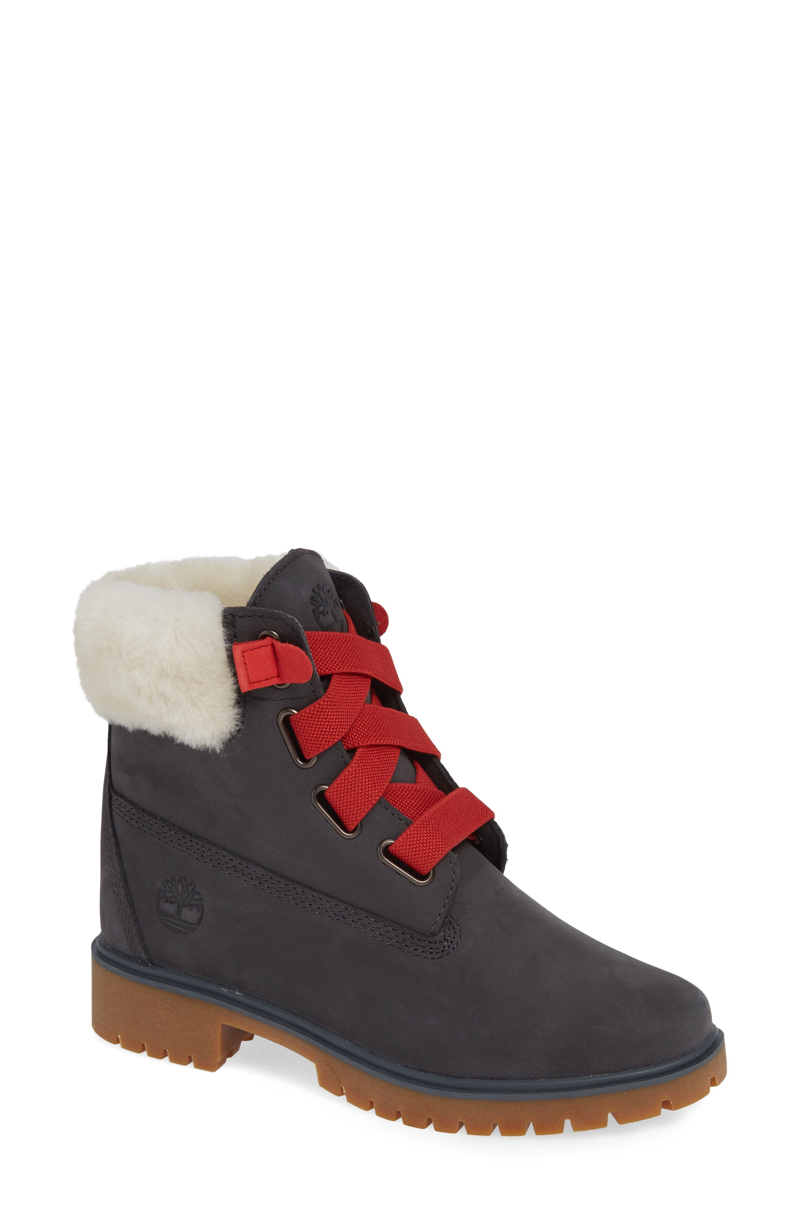 4d29dd7f6d9 Timberland Convenience Waterproof Boot with Genuine Shearling Trim  available at  Nordstrom