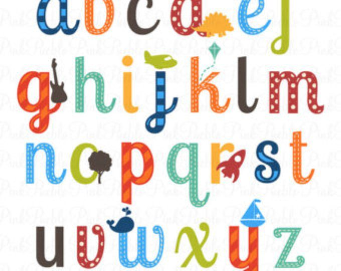 boy alphabet letters scrapbooking alphabet clipart clip art lowercase commercial and personal use