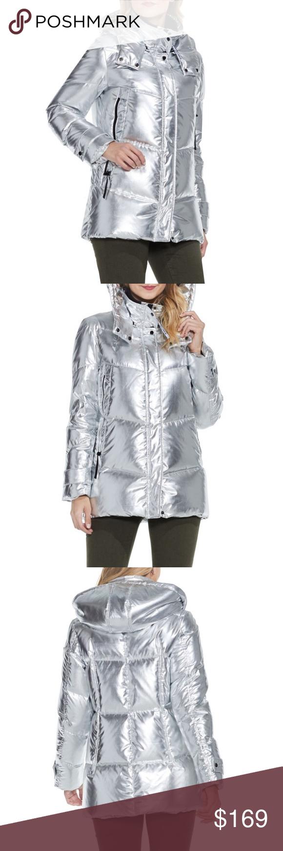 Vince Camuto Metallic Silver Puffer Coat Fashion Clothes Design Fashion Design [ 1740 x 580 Pixel ]