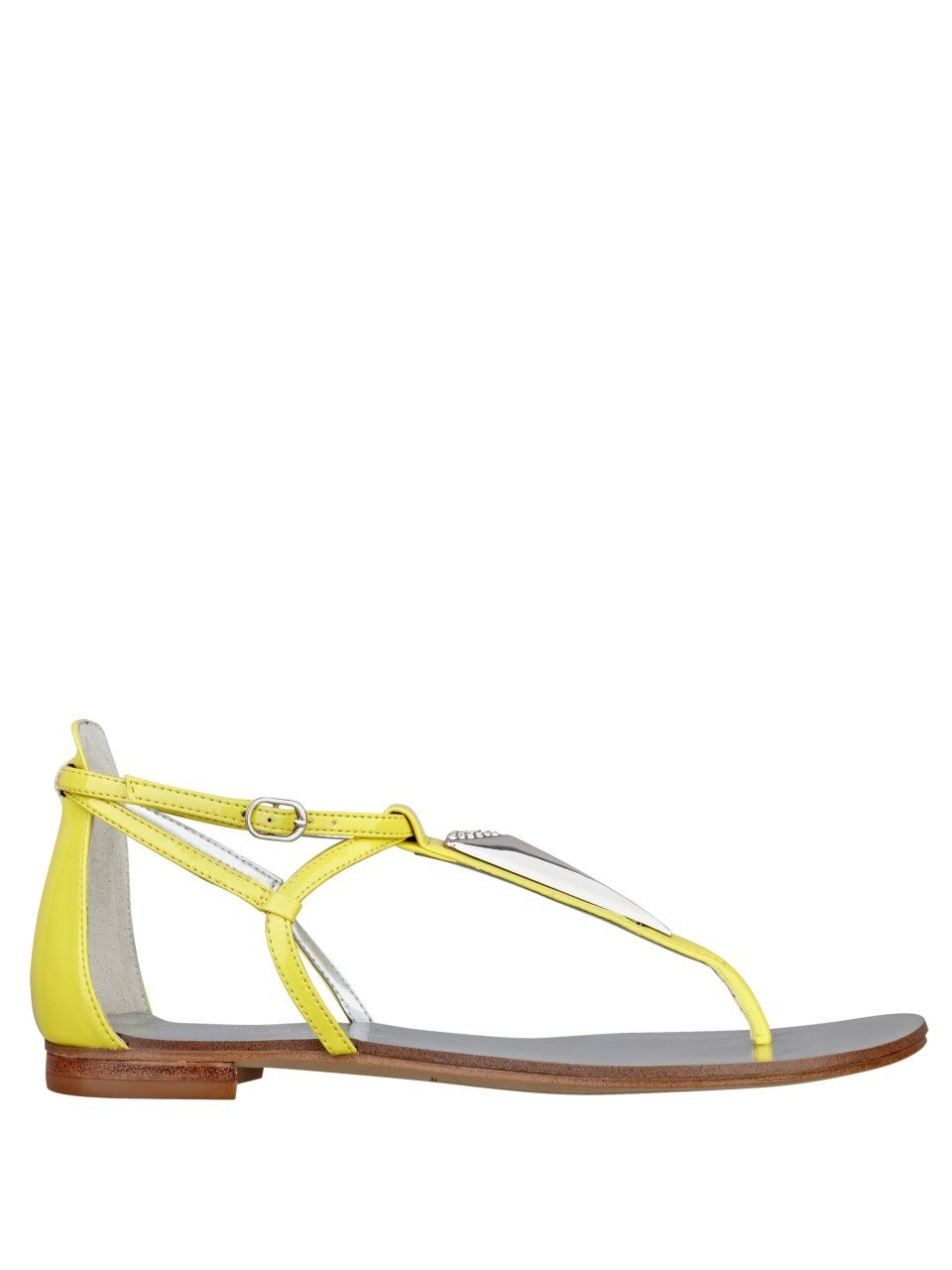 GUESS Rafi Triangle-Detail Sandals, YELLOW (8)