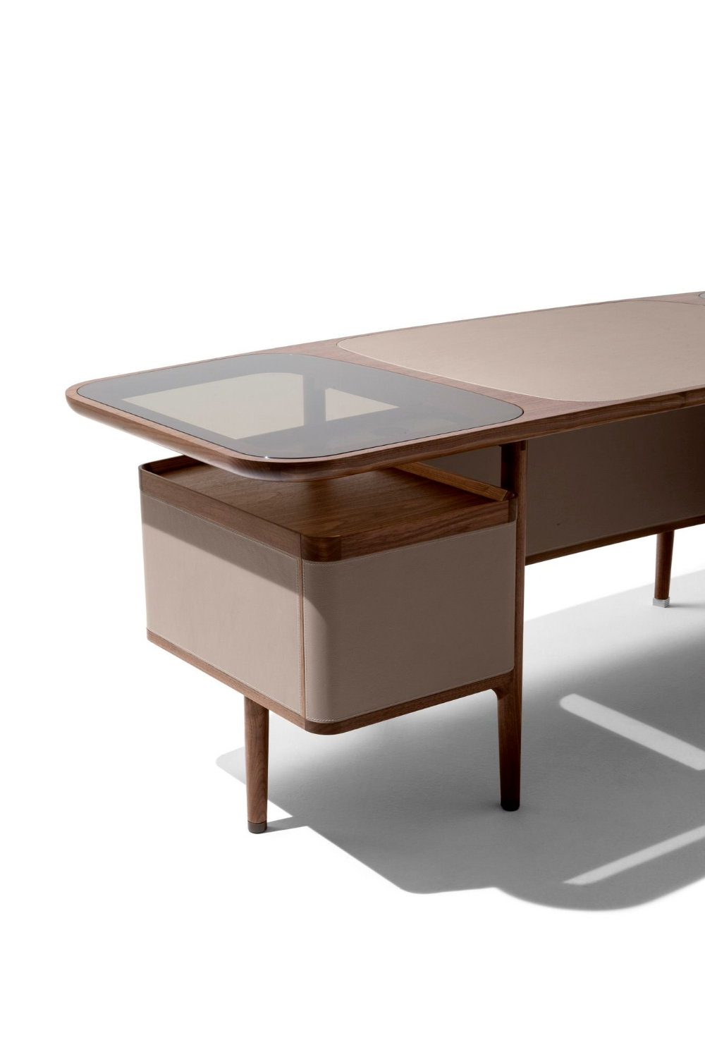 Rectangular wooden writing desk MOGUL By design