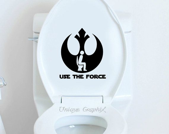 Items similar to star wars inspired use the force decal toilet sticker on etsy