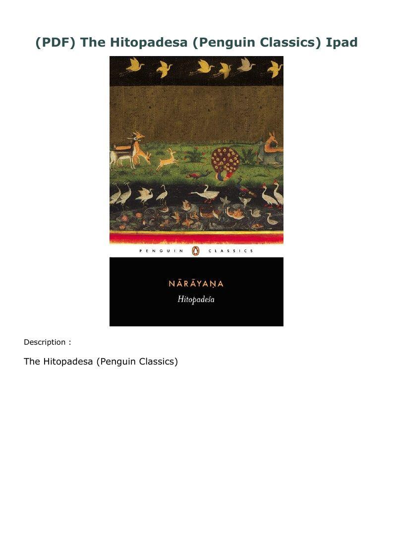 Pdf The Hitopadesa Penguin Classics Ipad In 2020 Penguin Classics Free Ebooks Ipad