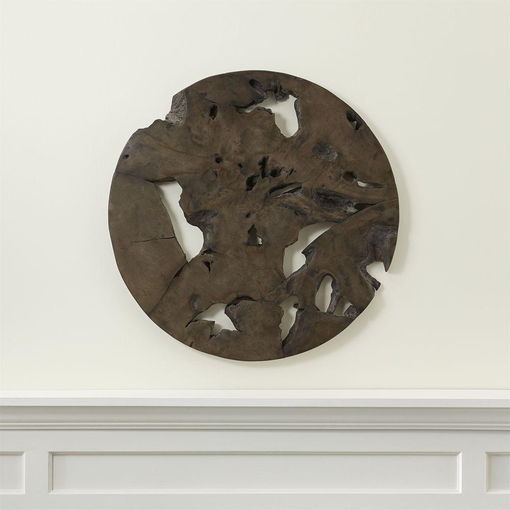 Slice grey teak round wall art products pinterest wall teak