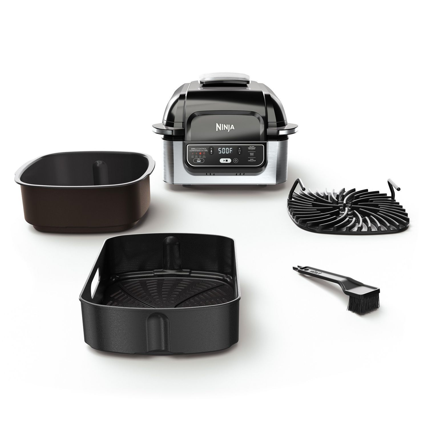 Ninja Foodi 4 In 1 Indoor Grill With 4 Quart Air Fryer Roast