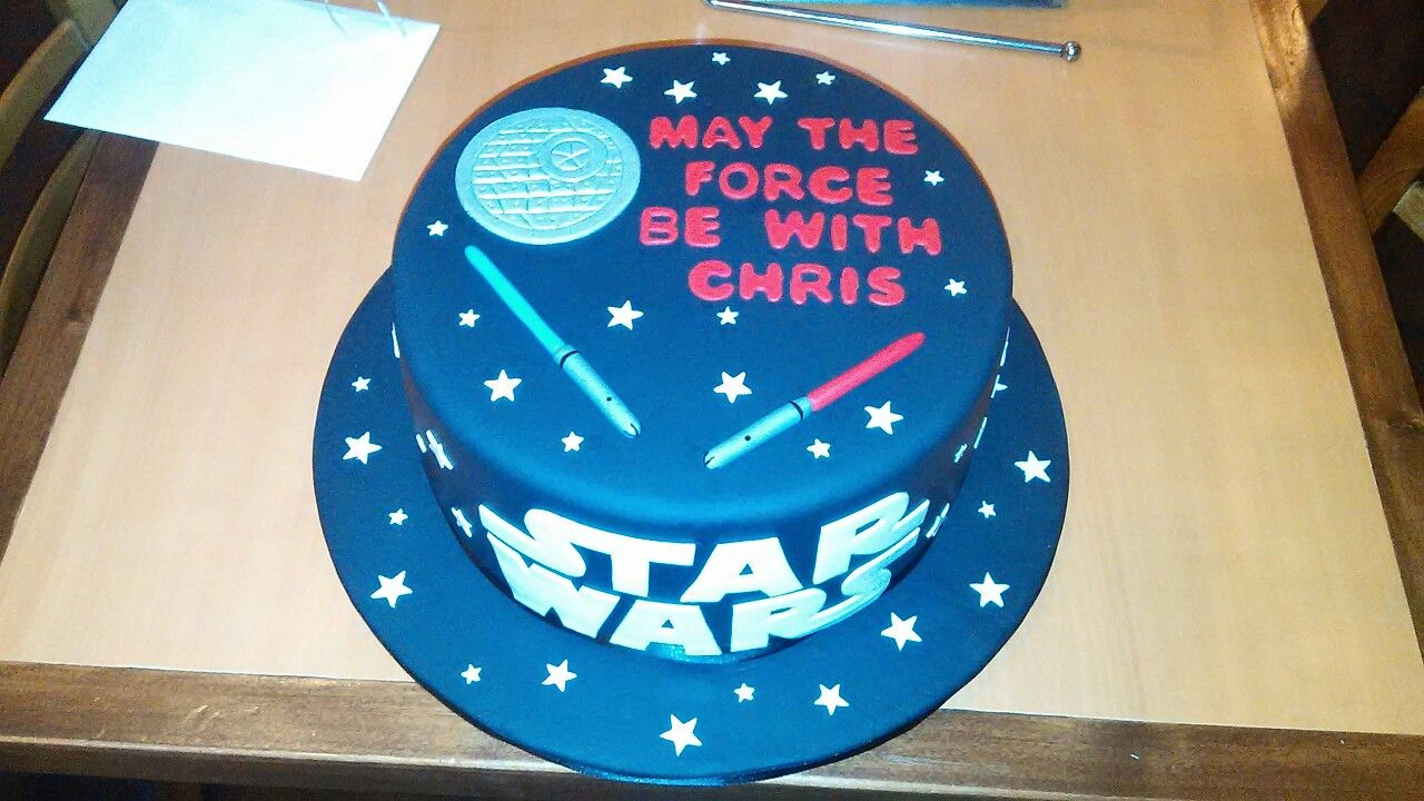 Cake for Star Wars party