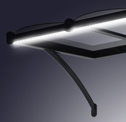detail marquise aluminium eclairage integre led porte d 39 entree pinterest marquise led et. Black Bedroom Furniture Sets. Home Design Ideas