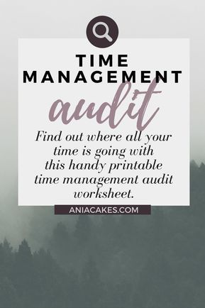 Time Management Audit - where all your time went? Time management - copy blueprint medicines analyst coverage