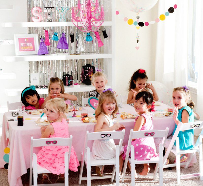 Colorful & Modern Barbie Birthday Party Ideas
