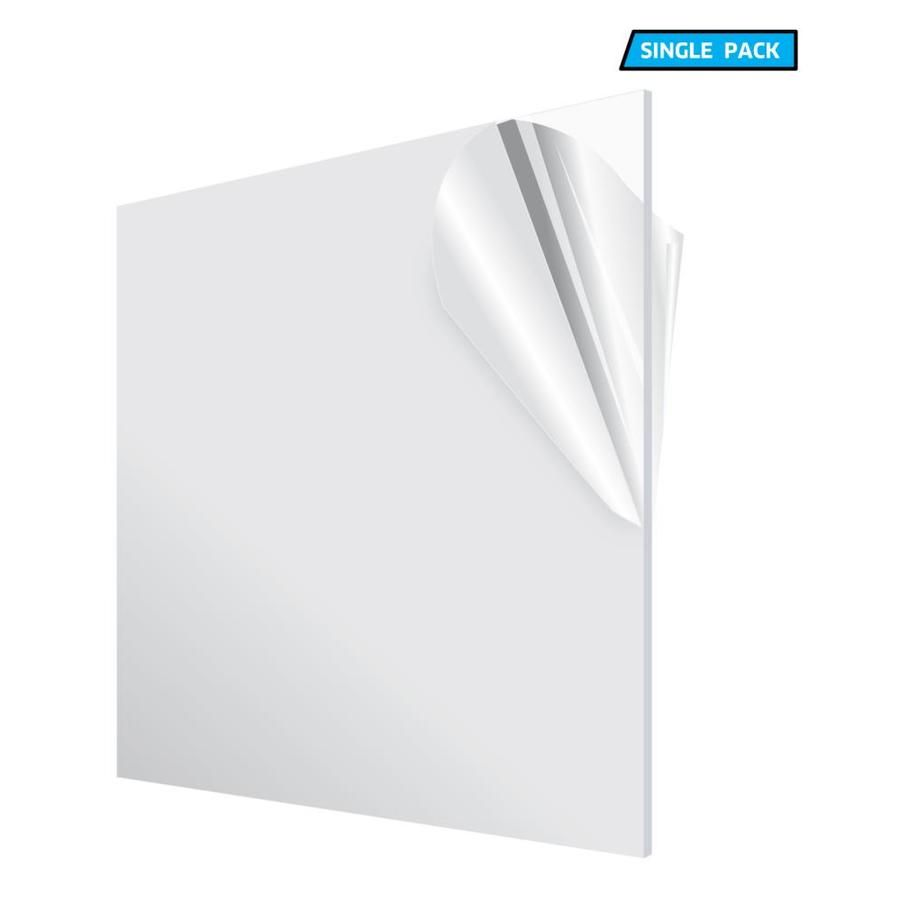 Adiroffice 24 In X 24 In X 1 8 In Clear Plexiglass Acrylic Sheet Lowes Com In 2020 Clear Plexiglass Plexiglass Sheets Acrylic Sheets