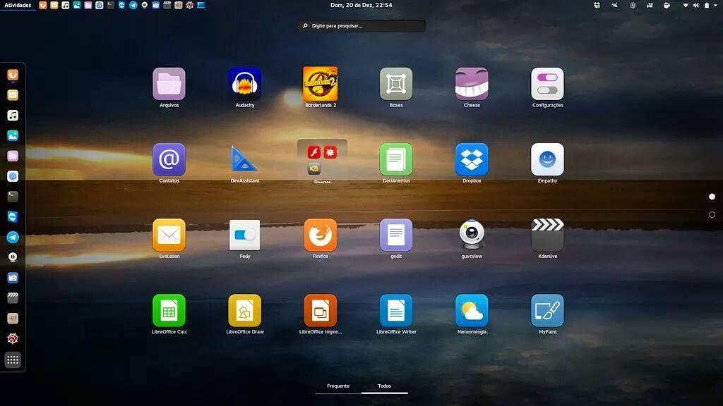 #PrintScreen do #Fedora #Linux 23 que tenho instalado aqui na minha máquina. Poste um print da sua também! #Fedora23 #Gnome #GnuLinux by finnorx