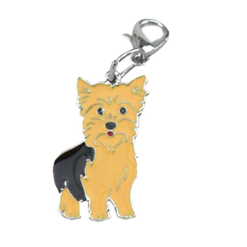 high quality cute yellow metal dog tag pet id enamel necklace