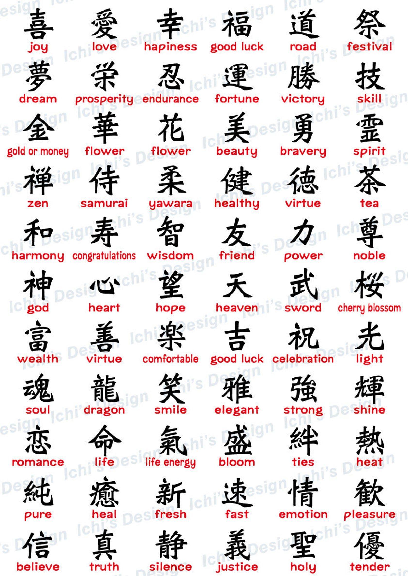 Japanese Kanji Set Instant Download Eps Png Etsy In 2020 Japanese Tattoo Symbols Chinese Symbol Tattoos Japanese Tattoo