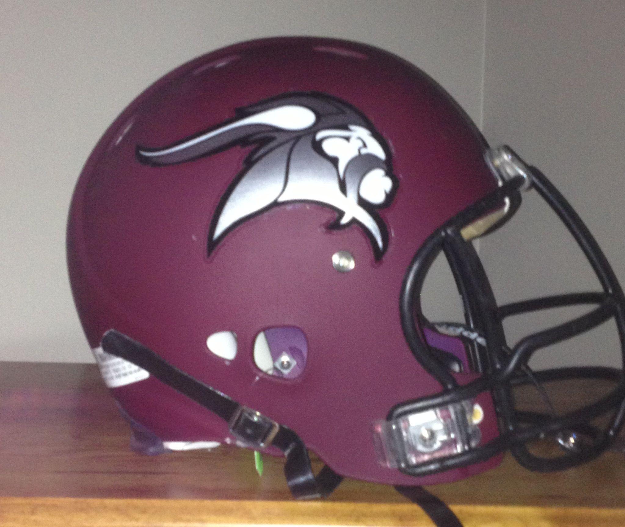 New Chrome Football Helmet Decal Look For Waterloo High School - Helmet decalsfootball helmet decals business art designs