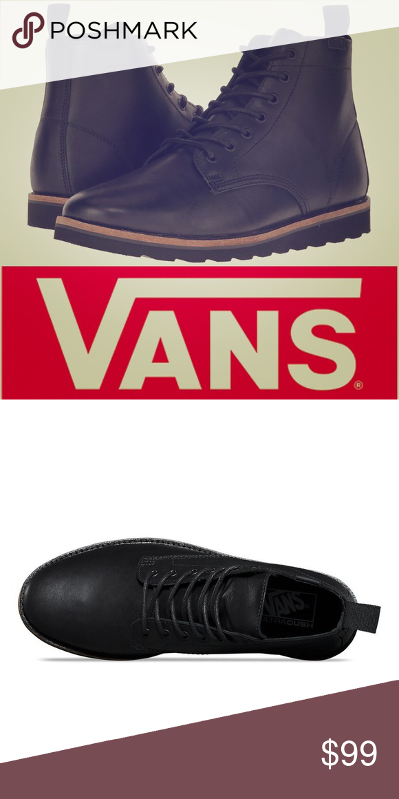 e979a315535 VANS Sahara Black Leather Lightweight Boots From distant lands to ...