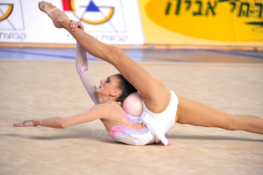 Elena Meirzon of Isaeru perfoms with balll  during at 2010 Holon