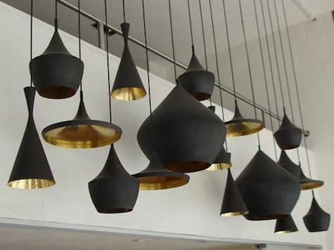 Neat Idea A Combination Of Pendant Lights Make A Bold Lighting Choice Tom Dixon Pendant Tom Dixon Lamp Tom Dixon Lighting